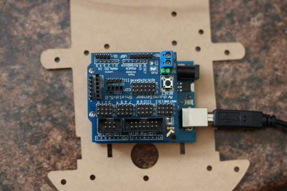 Arduino card and Sensor Shield V5